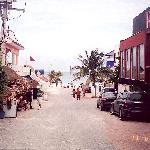 View to the Beach in downtown Playa