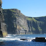 View of bottom of Cliffs of Moher