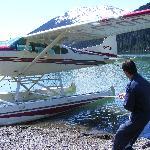 Flug zu einem Gletscher in den Telkwa Mountains mit Wendel