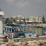 Ayia Napa harbour -  we were going on a little cruise boat around the coast