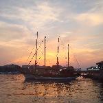sunset over Old Nessebar