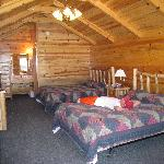 inside of log cabin
