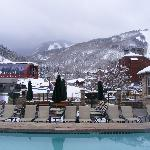 Heated Pool is Great in the Snow!