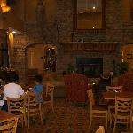 A view of the breakfast/wine tasting room
