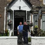 Michael & Klaus in front of James Cottage