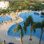 View of one of the pools from balcony