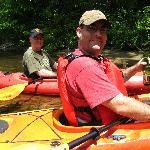 Adam & John paddling.