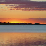 Last Rays of Sun on Lake Dora