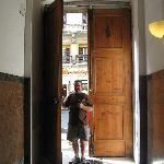 Huge entrance door to the building