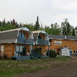 Two-story cabins and store/restaurant