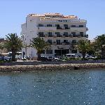 Hotel looking from marina