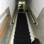3 of 4 flights of stairs leading to b&b