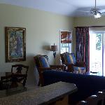 Living room of 1BDR Garden view suite