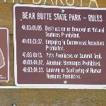 Bear Butte Sign at Entrance