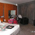 Bedroom at the Hilton