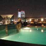 Pool at night, it closes at 9pm