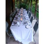 Our private dinner that Bruce and Susan arranged for our group!