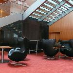 Egg chairs in the lobby