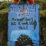 Ireland: co. Kerry - Dingle Peninsula - Great Blasket - Please Keep Tidy!