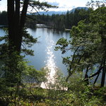 View of Spider Lake from Rainshadow B & B
