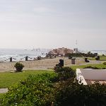 View to the north - walk to the pier to get to town