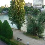 View of the Marne River near hotel