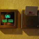 executive room 1338 - touch screen bathroom light control, do not disturb and make up light cont