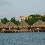Lagoon Cabanas over water