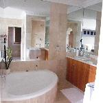 The bath in the bedroom!