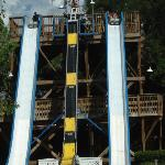 Raft slide ride