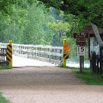 Entrance to the bike trail