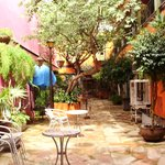 Courtyard at Hotel Casa Campos