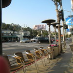 View of Sunset Blvd from our table