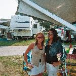 Daughters at our camspsite in the 2000 section at Ocean Lakes