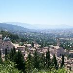 View of Assisi from the Rocca