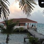 View from the bar of the dive center