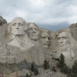Each head on Mt. Rushmore is as tall as a six-story building.