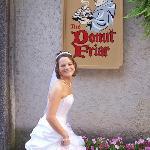 My wedding day, had to go to Donut Friar!