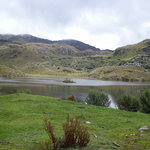 One of the numerous mountainside lakes