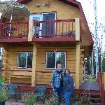 Big Al and I in front of the Chinook Cabin