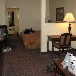 Living room area, facing sleeping area