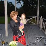 A dance with the baby of the castle at Chateau Mcly