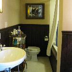 bathroom w/ 2 person jacuzzi