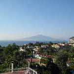 View of Pompeii from Roof Terrace