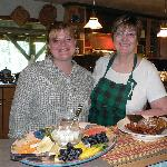 Ruth, right, helps serve up breakfast made fresh daily