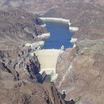 hoover dam from a helicopter trip