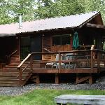 The cabin from the back