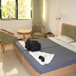 double bed / chairs / table n room