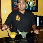 Omar offers a variety of drinks