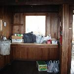 The kitchen area, they provided the garbage can and bags